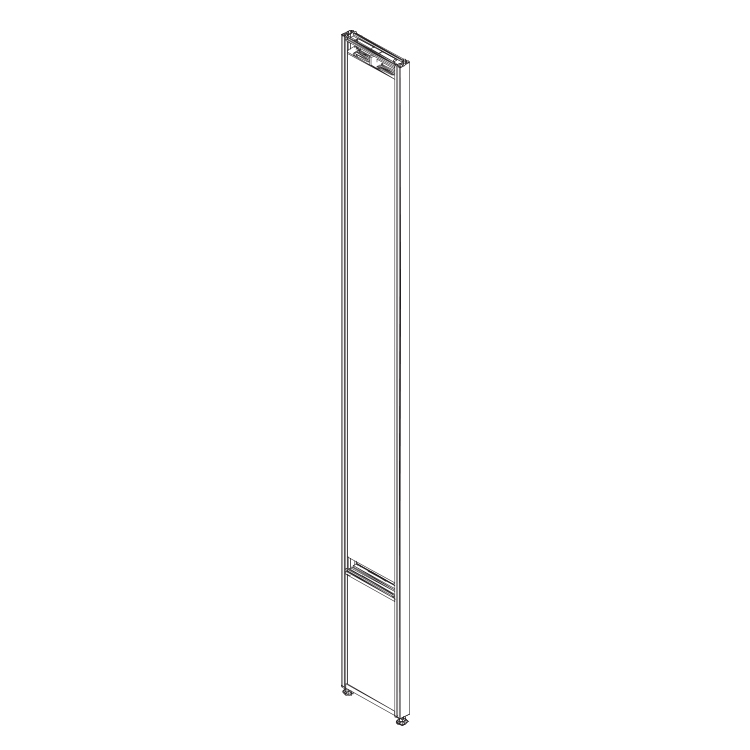 Line render of an upright power panel