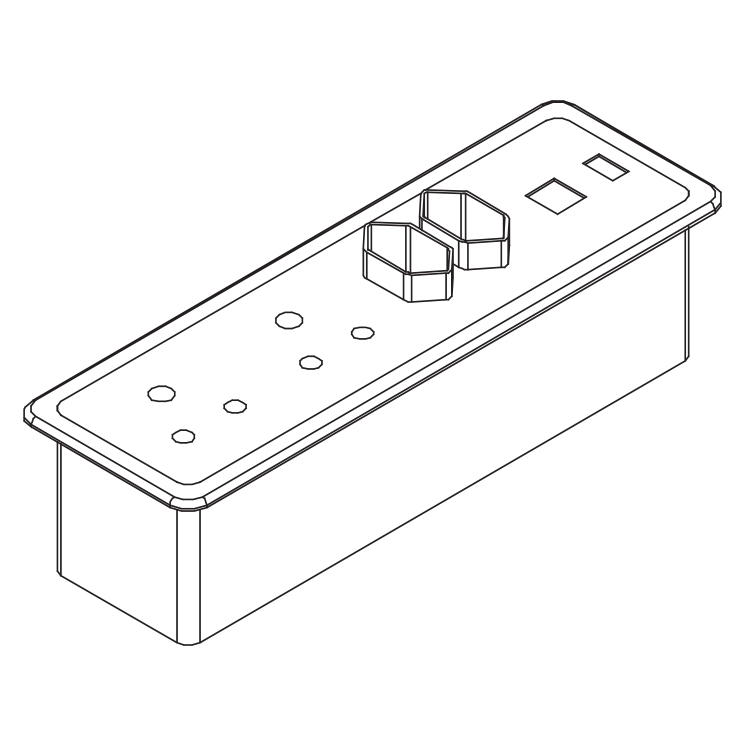 Line render of a power set with multiple plug types