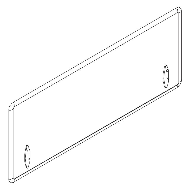 Framed screen for dividing workstations and desks