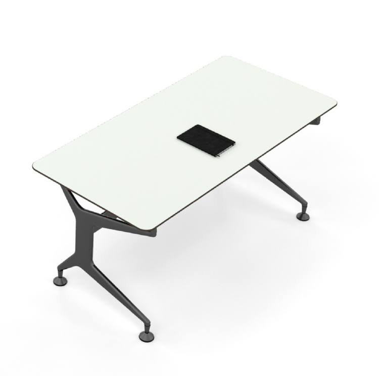 Single workstation desk with a white top
