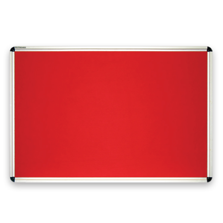 Classic red felt board for pinning notices