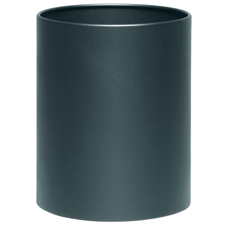 Cylindrical black metalic modern waste paper bin