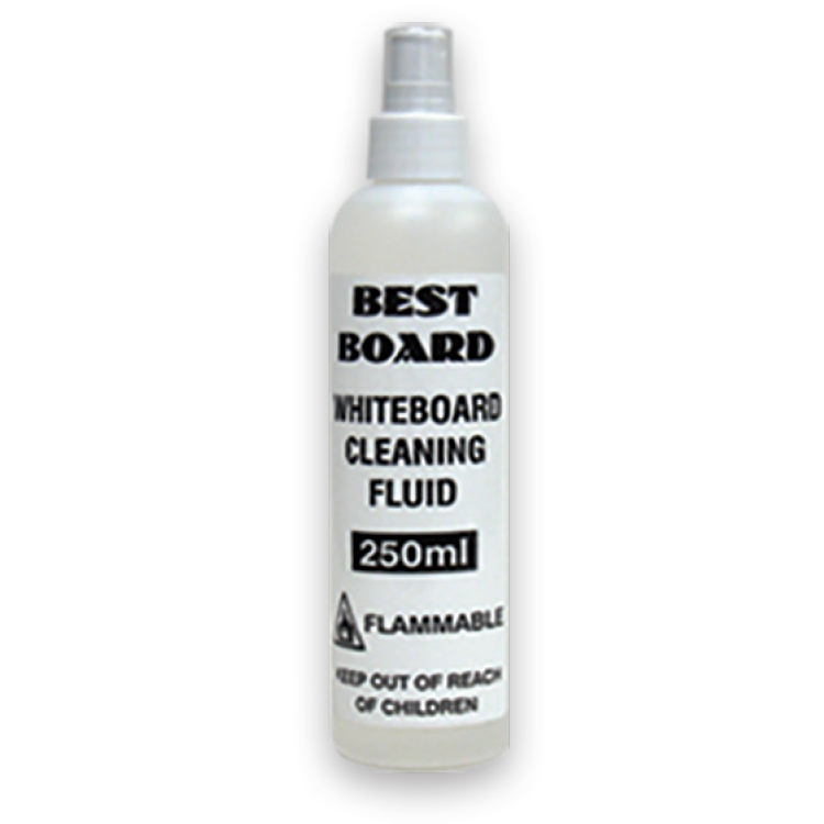 White bottle of whiteboard cleaning fluid