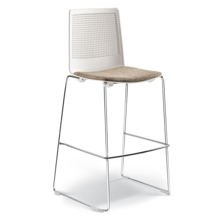 Barstool with Metal legs