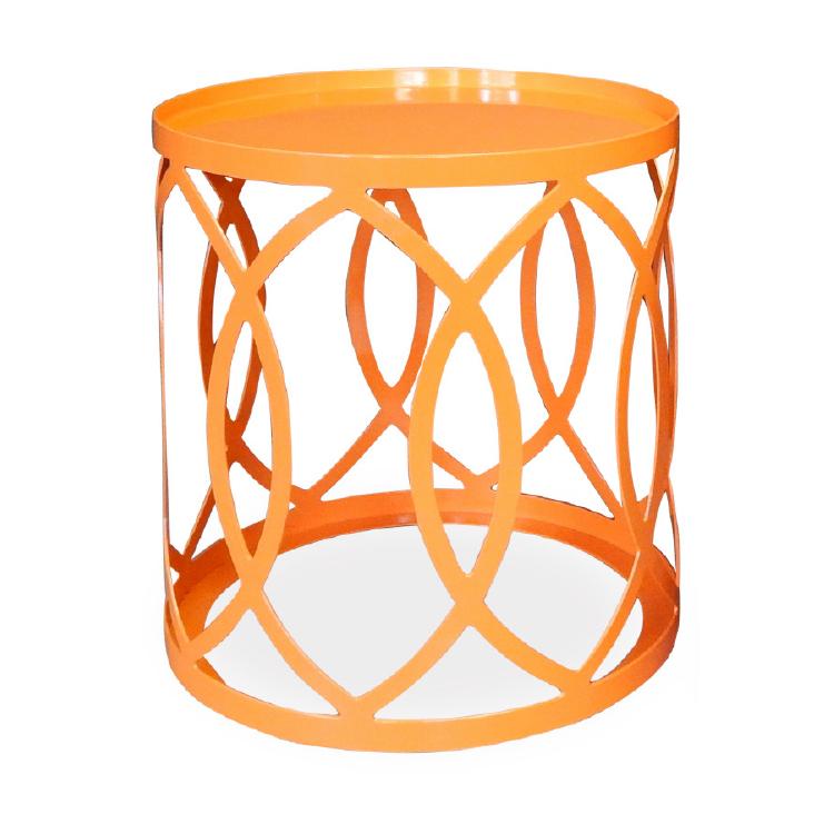 Modern round orange office coffee table