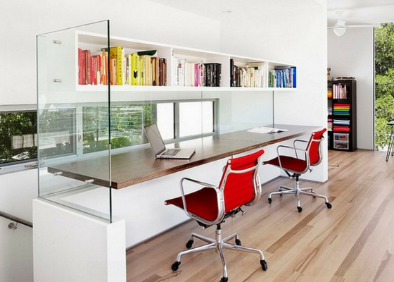 Image showcasing how a combination of artificial and natural light can impact small offices