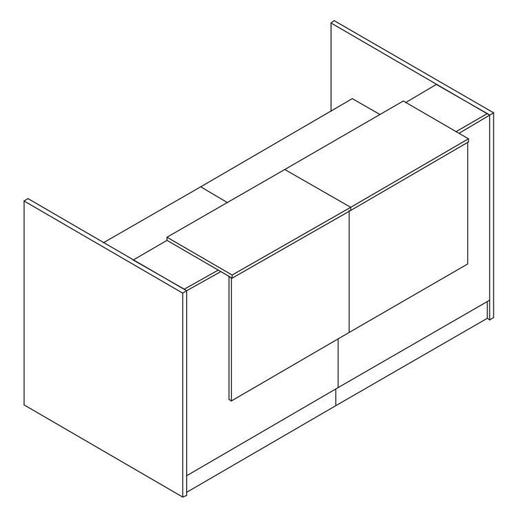 Line render of a 1800cm reception podium