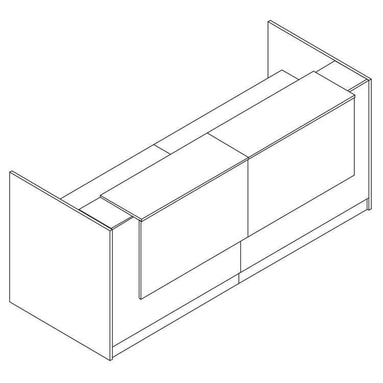 Line render of a 2400cm reception podium
