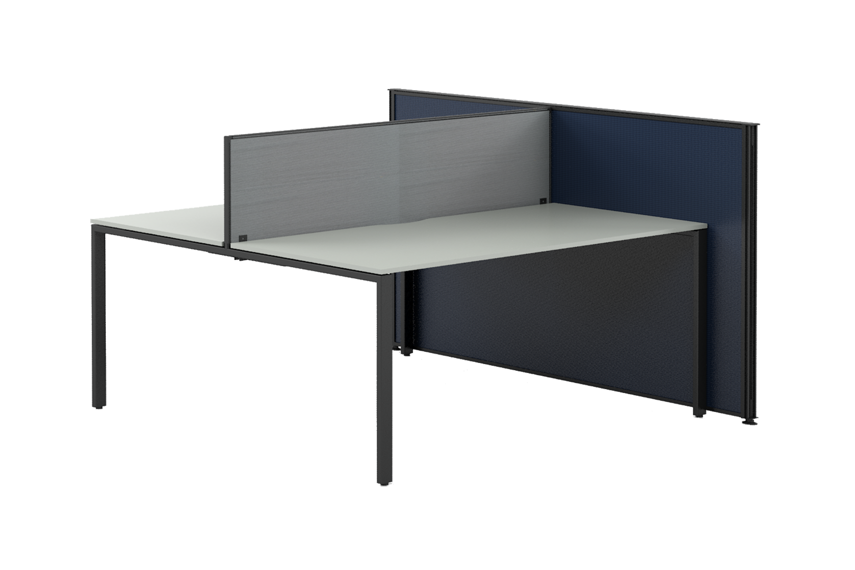 desk unit with side screen