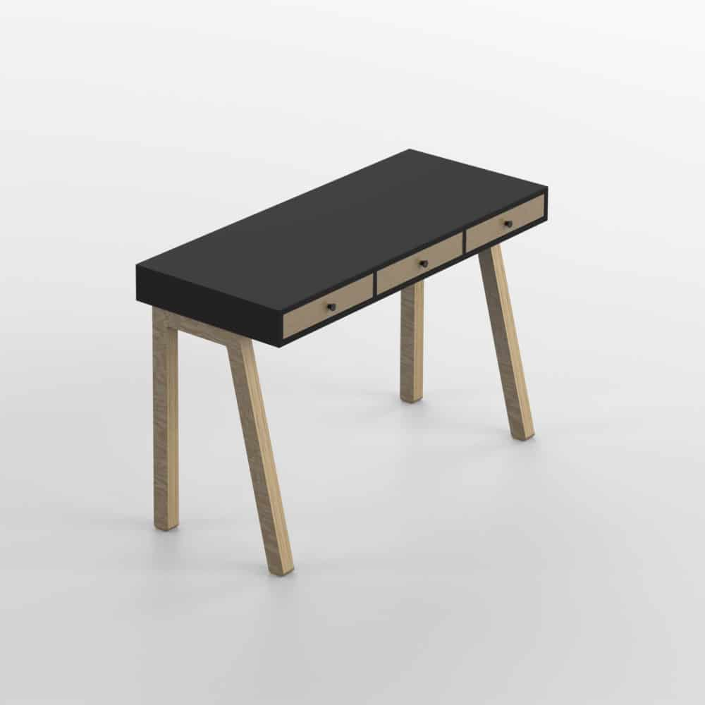 Tabette Desk Dark Black