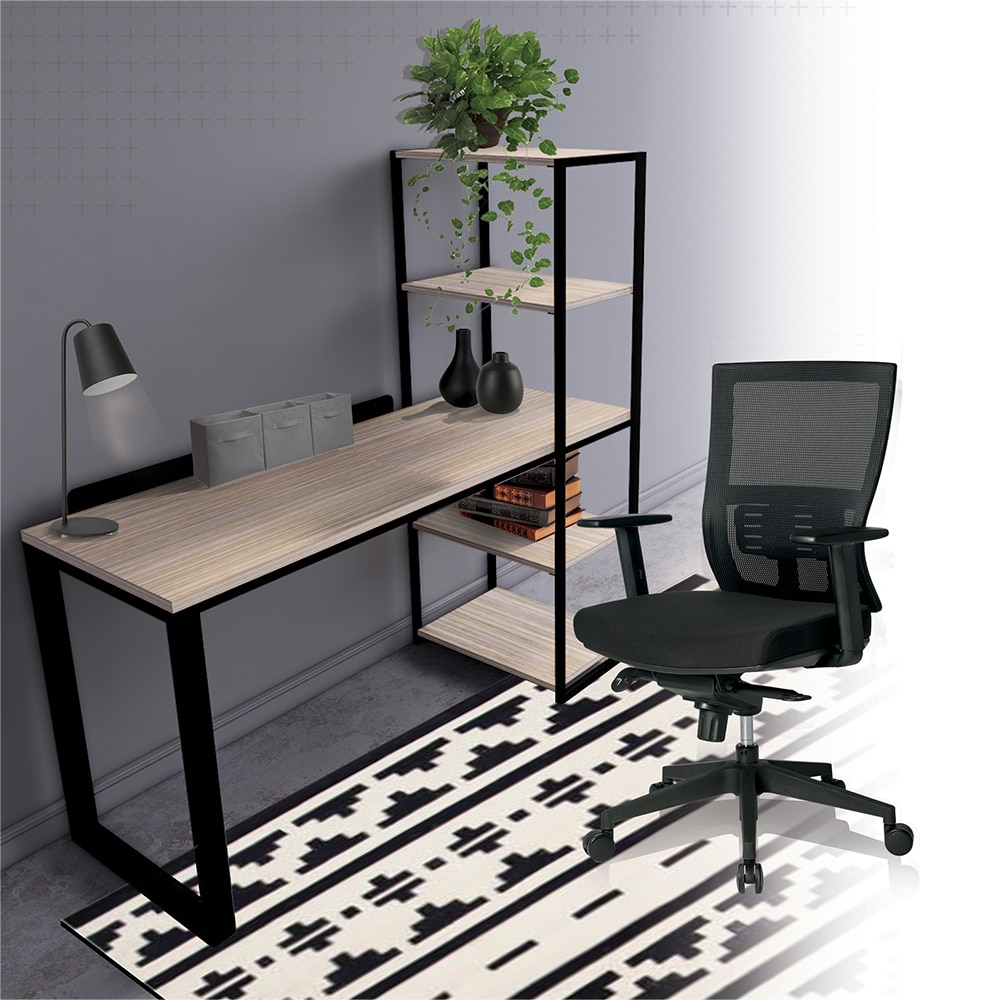 Home office table with shelves and a chair for Ukhuni