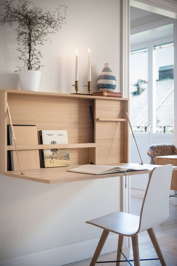 Space Saving Fold Up Home Office Desk