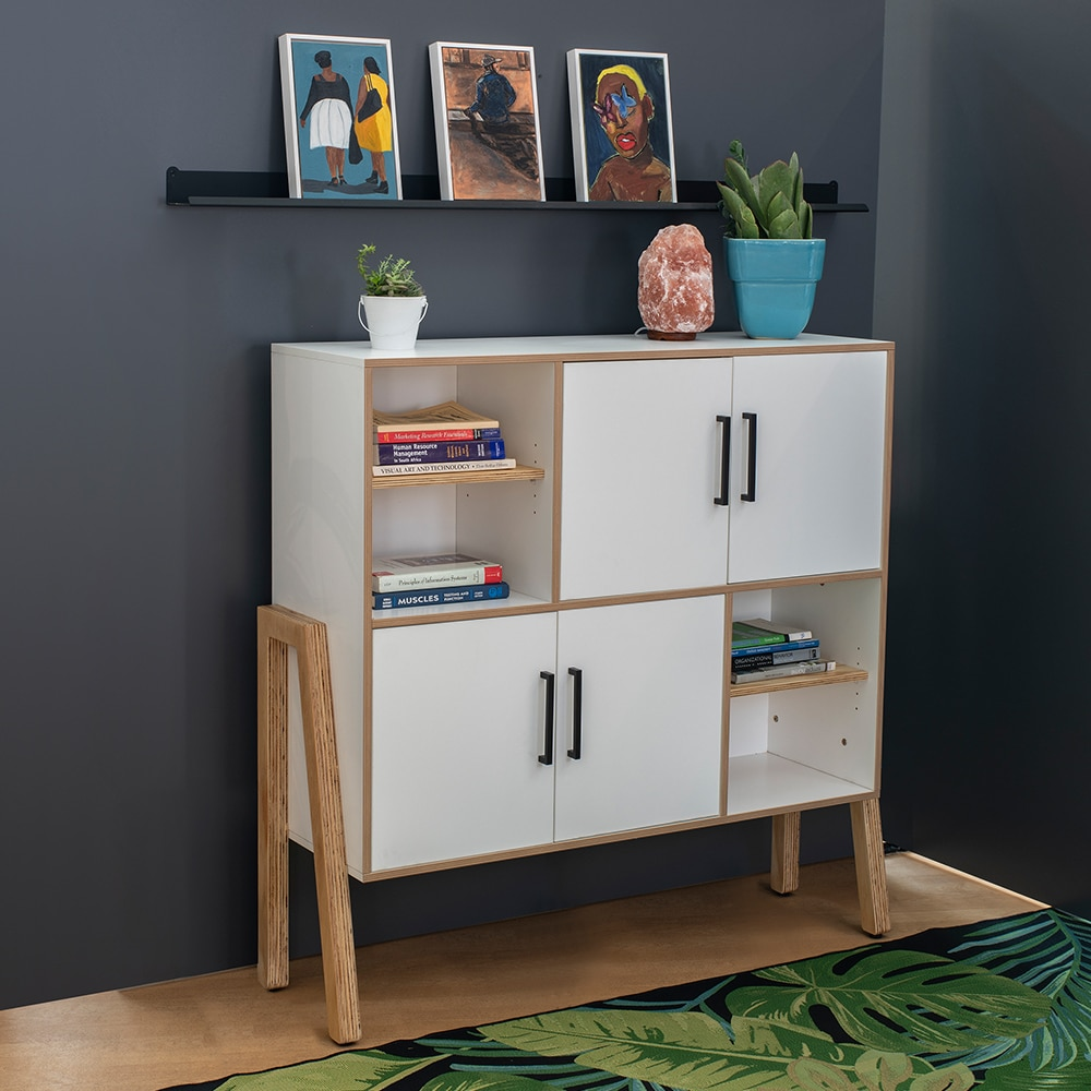 Home office white cupboard for Ukhuni