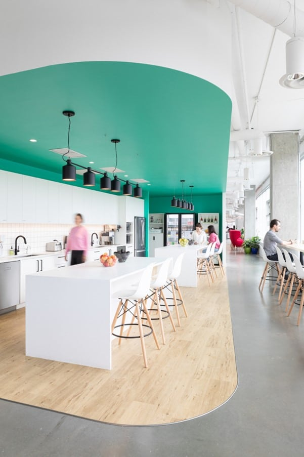 Internal canteen interior design with chairs and tables for Ukhuni