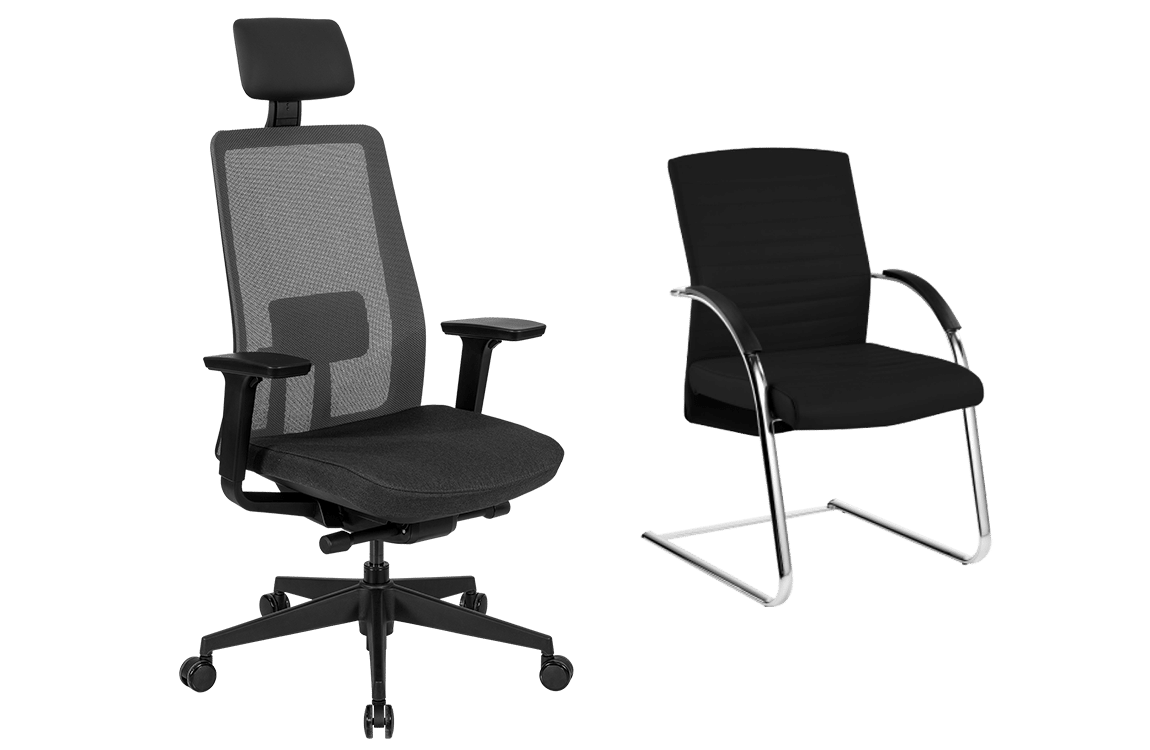 Example of two office chairs in the range